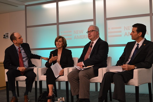 Lawrence Norden, Chair Ann Ravel, Mark Schmitt, and Rep. John Sarbanes | by New America