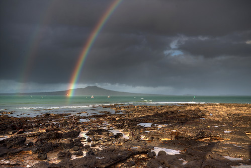 newzealand auckland nz rangitoto rainbow