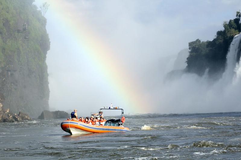 Three Musketeers Falls, Macuco Safári, Parque Nacional De Iguaçu, Brazil-Argentina.