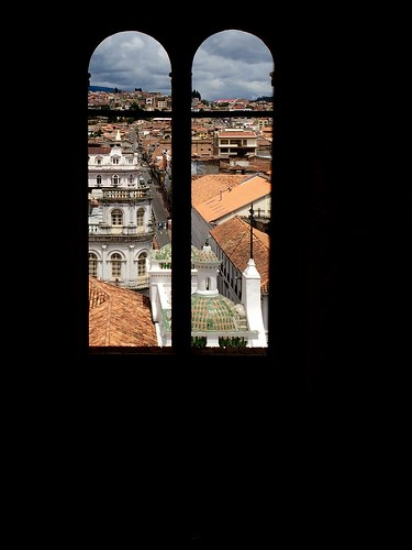 travel window ecuador cathedral frame cuenca