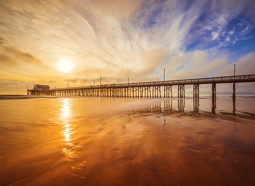 california longexposure sunset reflection beach clouds dark pier nikon cloudy newportbeach tokina socal newport lowtide orangecounty fx oc hoya d800 ndfilter nd400 meeyak