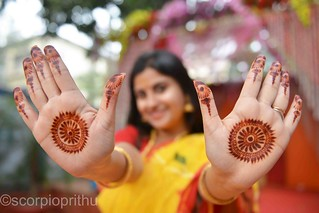 Indian Bride Hands painted with Mehendi