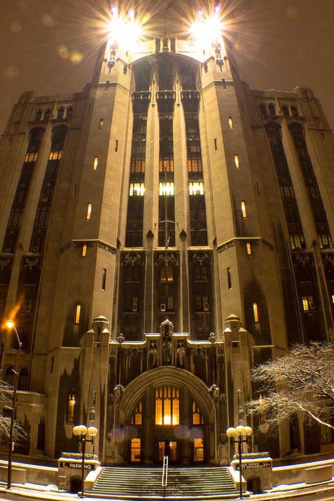 Gothic Night #MasonicTemple #Detroit #Night #Architecture