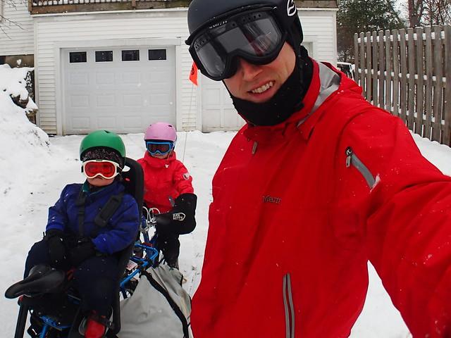 ready for a snowy family bike trip