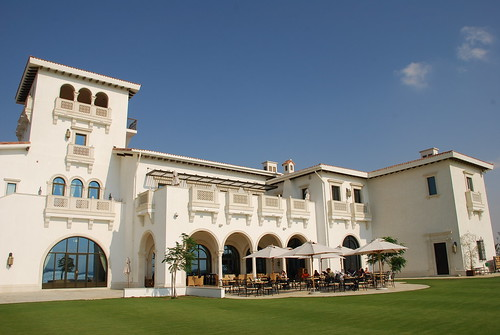 Club House at the Yas Links Golf Course in Abu Dhabi, United Arab Emirates