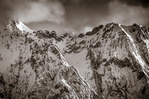 winter tirol österreich berge absam leichtbewölkt