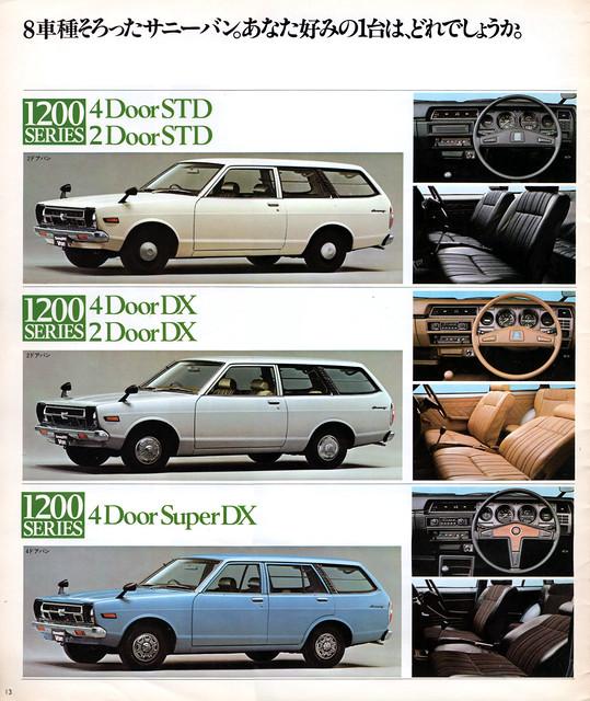 Nissan Sunny Van brochure
