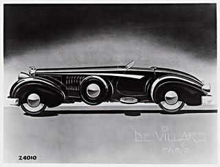 1936 Duesenberg Torpedo by De Villars of Paris