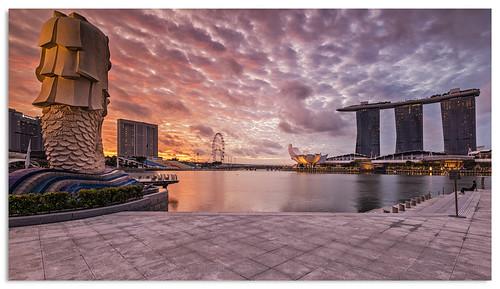 marinabay singapore sunrise d600 ngc nikonfxshowcase nikkor1635mmf4 2016 water