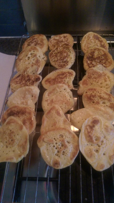 Sourdough blini for pudding club