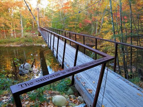 bridge connecticut ct newengland shepaug river fall autumn leaves hike trail beebrook henrydavidthoreau
