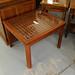 Cherry lattice coffee table