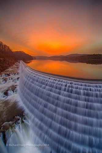 sky ny reflection water sunrise waterfall spillway crotondam crotononthehudson nikond800 nikkor1424mm128g richhaig
