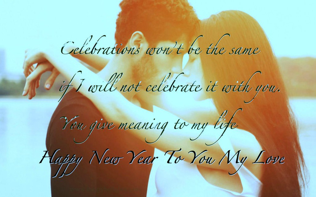 Happy New Year To My Love Couple Quotes Hd Wallpaper Sty Flickr