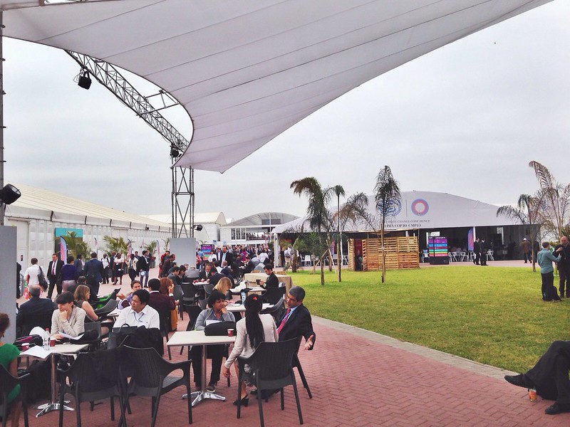 #COP20 the main square at the Conference, a common meeting place for delegates and NGOs