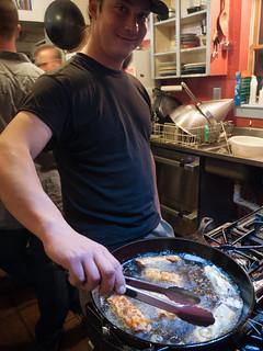 Kevin Frying Eggrolls