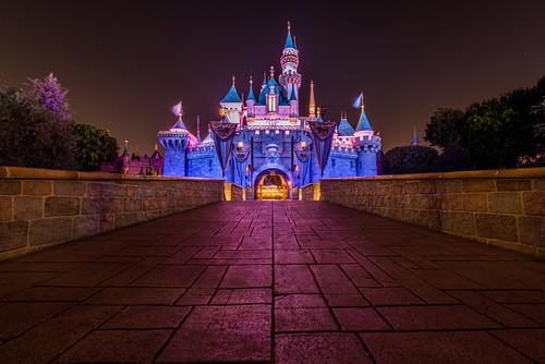 california travel sleeping vacation color castle beauty night landscape nikon disneyland disney anaheim walt fantasyland d810