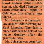 Floyd Johnson Obit