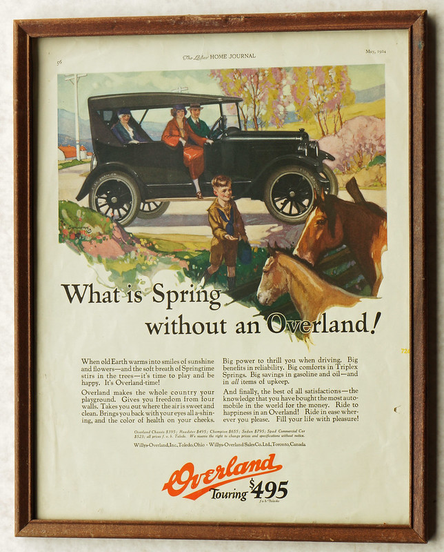 CM052 Overland Car Ad 1924 Framed DSC04125