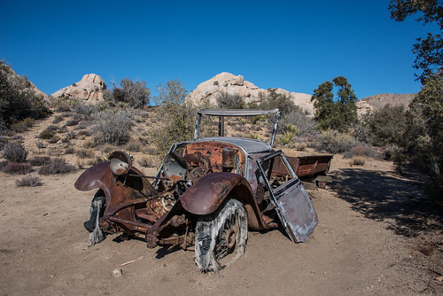 Automobile at Wall Street Mill | by Joshua Tree National Park