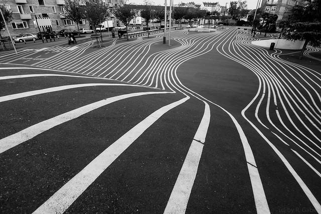 stripes near the red square in Copenhagen