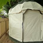 Mini Yurt on decking