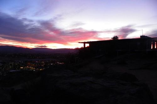 mojave desert hilltop house applevalley california sunrise