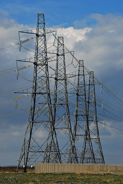 Pylons at Dungeness - The Power of 4