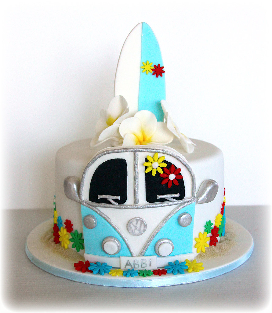 Magnificent Kombi Surfboard And Flowers Made For Abbis Birthday This Flickr Personalised Birthday Cards Petedlily Jamesorg