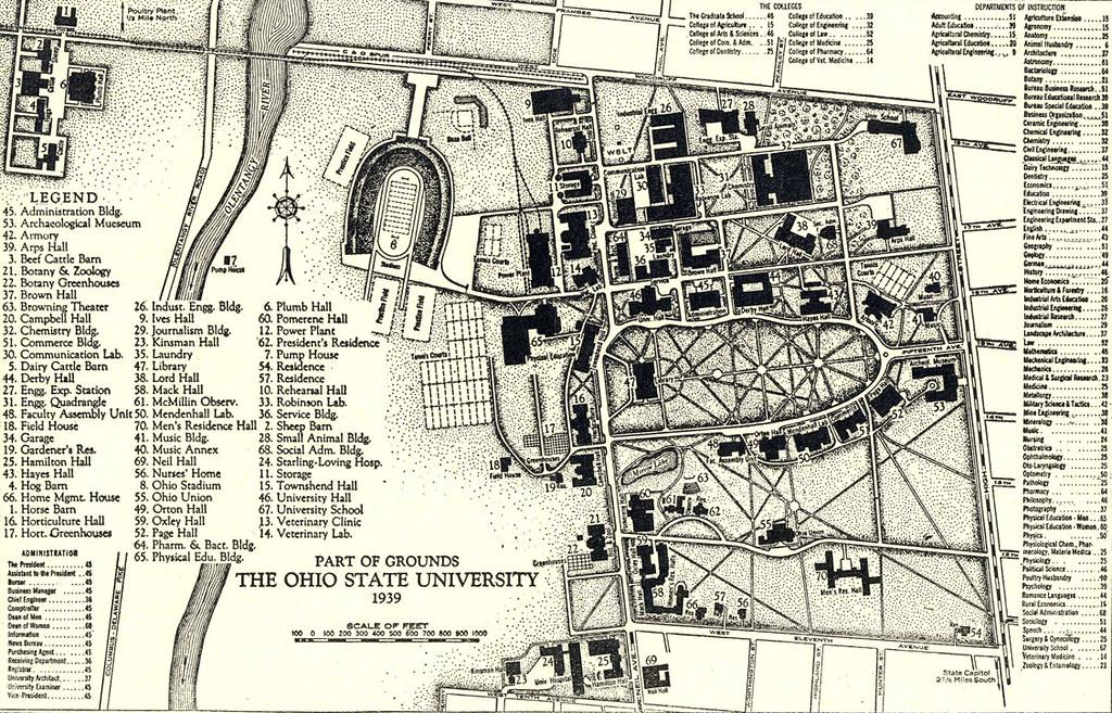 1939 Campus Map Ohio State University Campus Map 1939 Ph Flickr