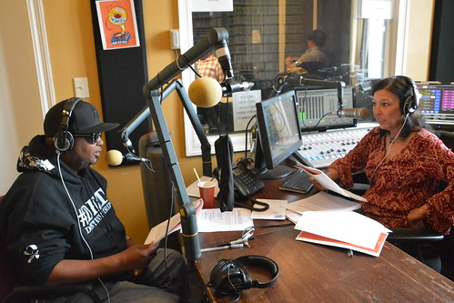 Action Jackson and Nita Ketner on the air. Photo by Kichea S Burt.