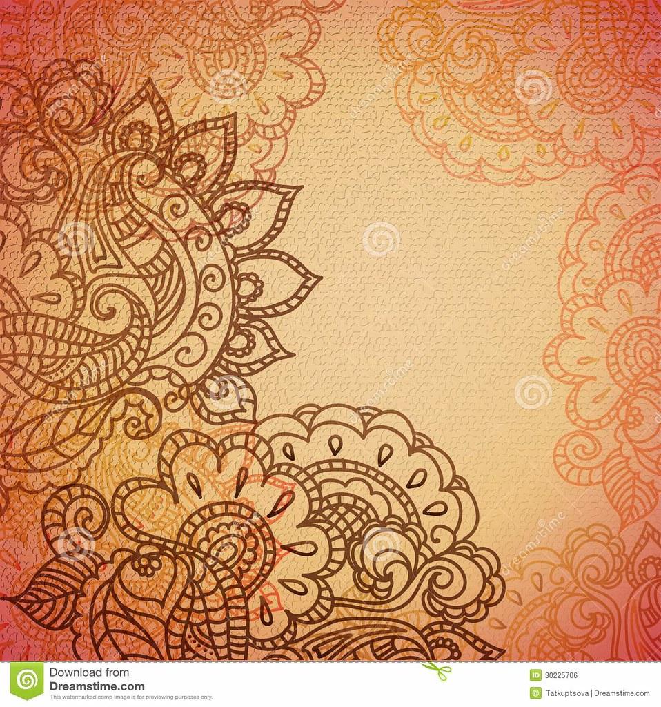 Floral Pattern Background Indian Ornament 30225706 Flickr