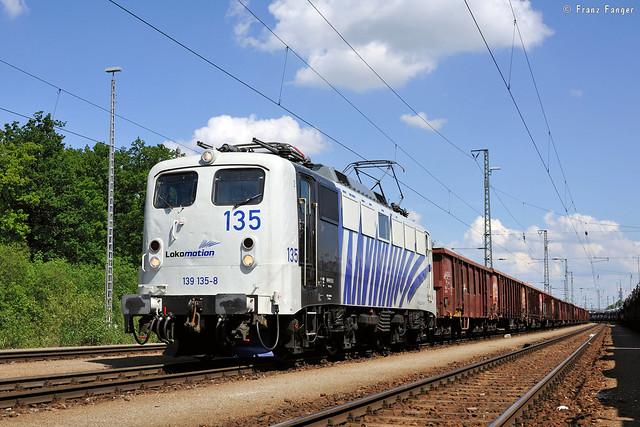 Lokomotion 139 135 in München-Nord Rbf, 06.06.2013