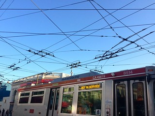 Muni Not in Service In Castro Intersection of Wires | by Lynn Friedman