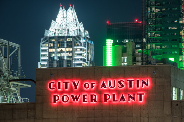 Seaholm Power Plant & Frost Bank Tower, Austin