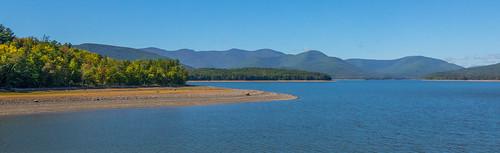 reservoir ashokan water landscape mountains catskills canong15 panorama