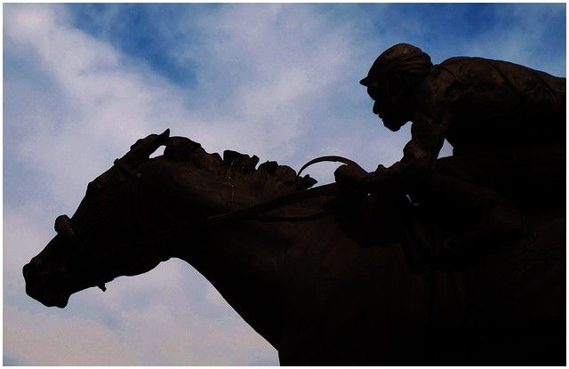 Statue Silhouette @ Churchill Downs