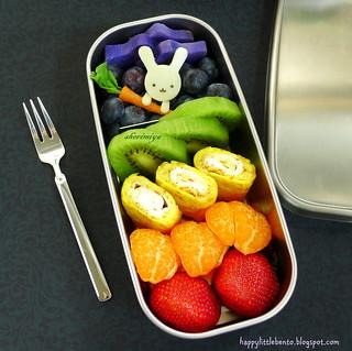 Bunny Eats a Rainbow Bento   by sherimiya ♥