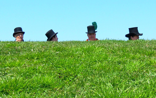 people green grass hats persons greengrass