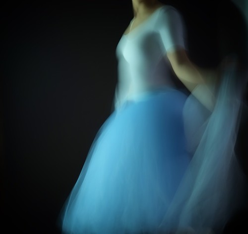 Girl with a blue Tutu