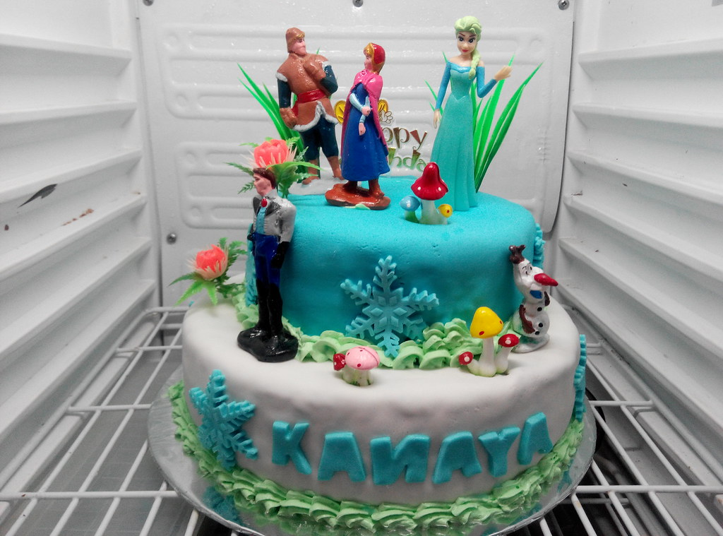 Cake Frozen Cake 2 Tingkat Frozen Frozen Cake Ultah Cak