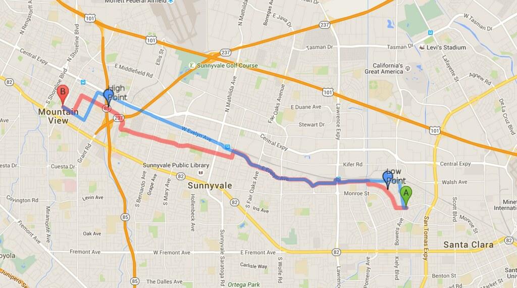 Bike route compare: Google vs MapQuest   From www.cyclelicio ...