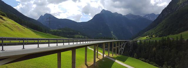 - Highway Bridge in the Swiss Alps -