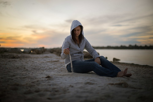 sunset portrait beach girl 50mm sand nikon bokeh perth d800 applecross