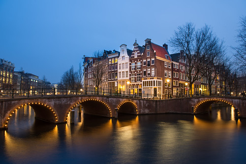 bridge holland netherlands amsterdam night canal nikon bluehour keizersgracht d800 leidsegracht 2470