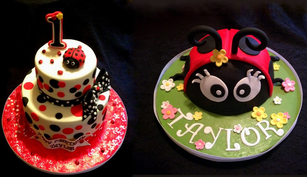 Swell A Ladybug 1St Birthday Cake With Smash Cake Pastryqueen62 Flickr Birthday Cards Printable Giouspongecafe Filternl