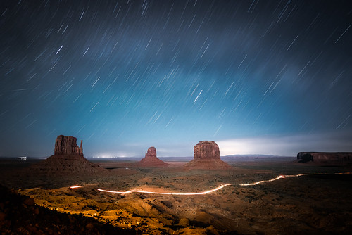 road park arizona usa west monument night stars lights star hotel long exposure view tribal trail valley moonlight navajo minutes mittens