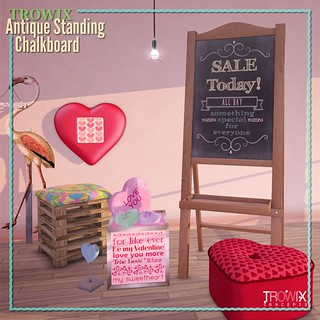 Trowix - Antique Standing Chalkboard Sign MP2