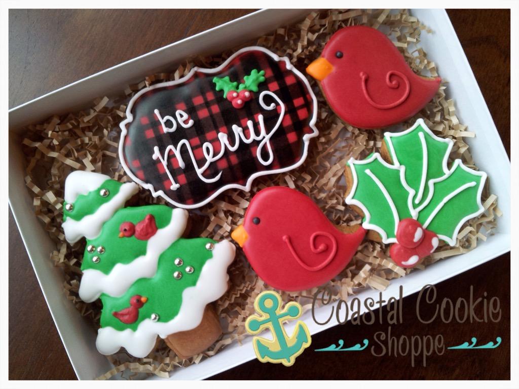 Be Merry Christmas Cookies Coastal Cookie Shoppe Was East Coast