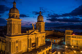 Cathedral at night near Cespedes park in Santiago de Cuba.jpg | by crystalcastaway